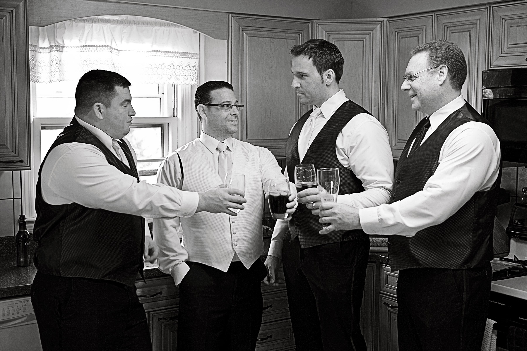 Groom and his boys